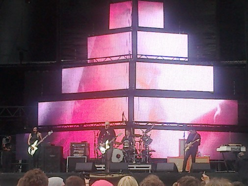 Für mich das beste Konzert des Festivals: The Smashing Pumpkins. Foto: Dennis Wegner