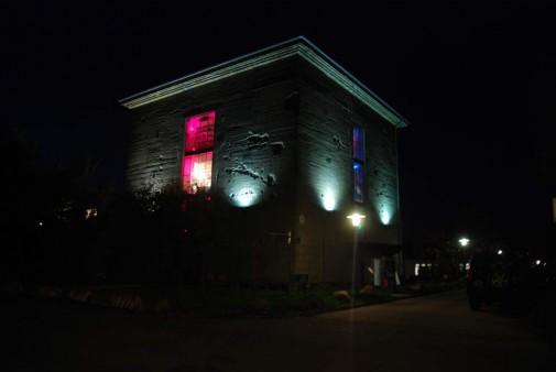 Bunker bei Nacht