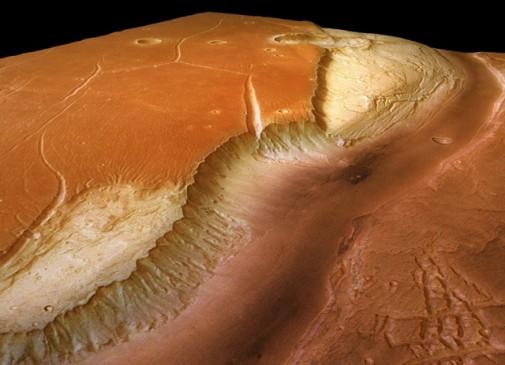 Vermutlich durch gigantische Fluten und Gletscher in der geologischen Vergangenheit des Mars entstanden: das Urstromtal Kasei Valles. Foto dpa