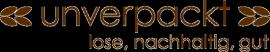 "Logo des ""unverpackt"" Ladens"