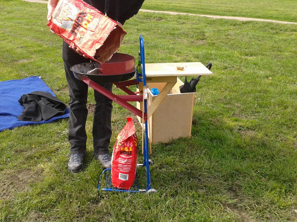Die mobile Grillmaschine, Foto: Sabrina Aust