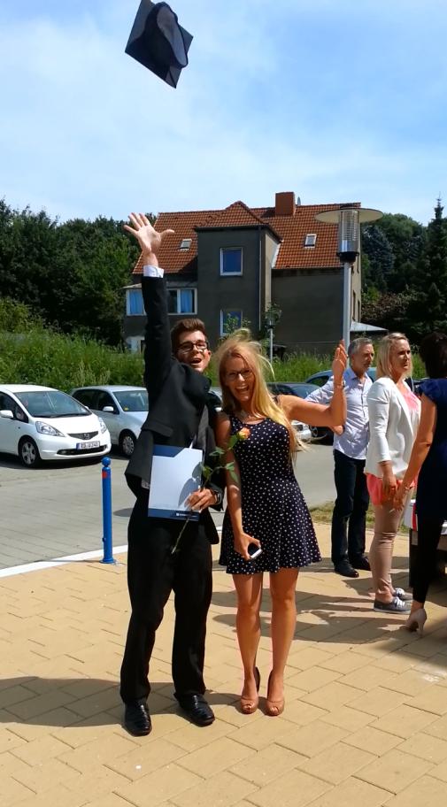Bachelorentlassung mit Stefan Soltau und Aileen Wunderlich an der Fachhochschule Kiel
