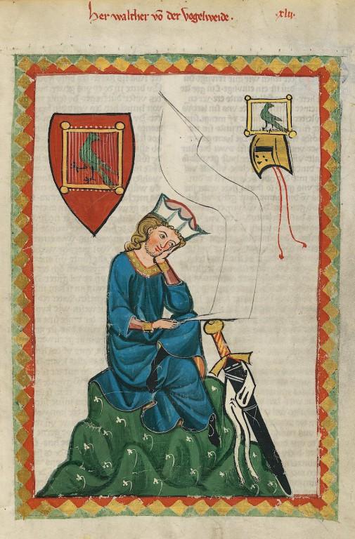 Studenten der Germanistik bekannt: Walther von der Vogelweide. (Bild: Wikimedia Commons)