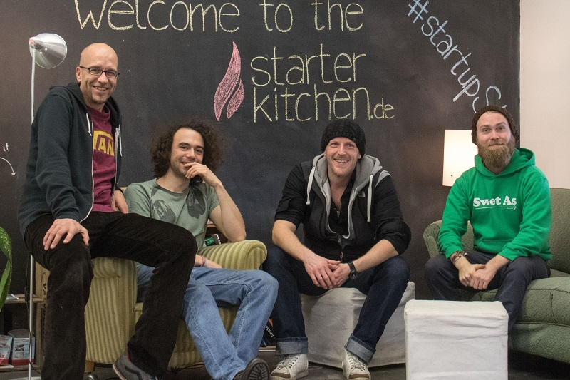 Die vier Köpfe hinter Groundkeeper: Jens Klimmeck, Pascal Floride, Marko Münnich, Jan-Henrik Stephan