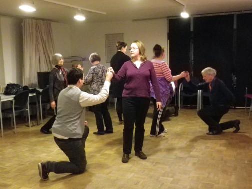 Die Mitglieder der Société Baroque bei einer ihrer Tanzproben.