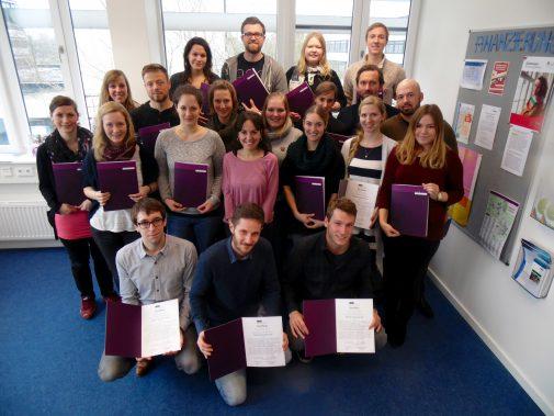 Die Teilnehmenden des Seminars Deutsch als Zweitsprache an der Uni Kiel Foto: Tobias Oertel