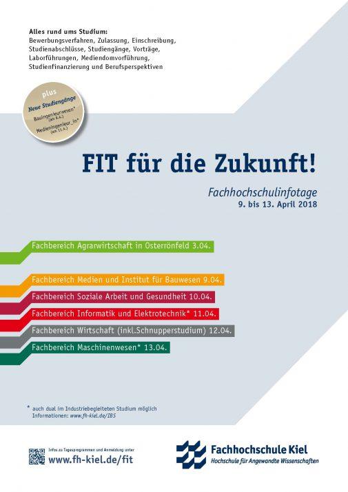 Plakat zu den Fachhochschulinfotagen 2018